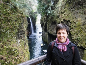 Overlooking the waterfall at Takachiho Gorge in Miyazaki Prefecture