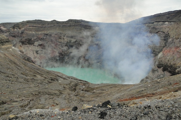 The active Nakadake crater