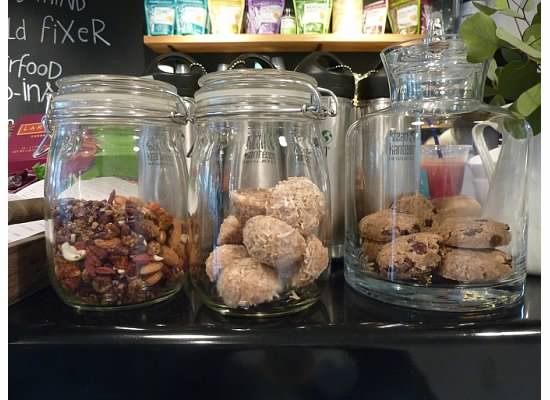 Raw desserts at Sky High Juice Bar