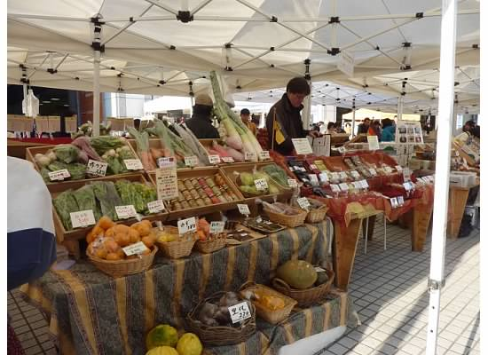 A scene from the Aoyama Farmers Market