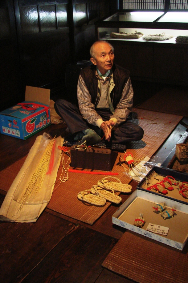 An artisan at work in Hida Folk Village