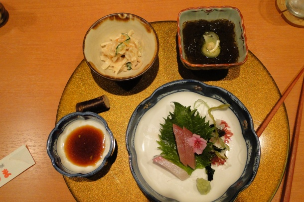 A selection of Okinawan appetizers