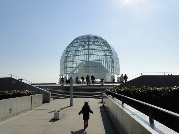 The glass-domed entrance to the Tokyo Sea Life Park