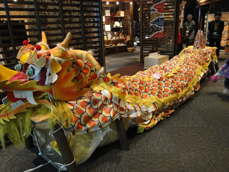 The dragon tunnel - a huge hit with the little ones!