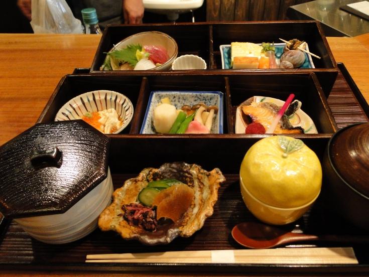 Waentei-Kikko's bento-style lunch
