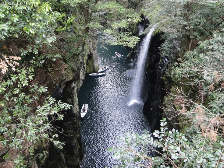 The Takachiho Gorge and Manai waterfall