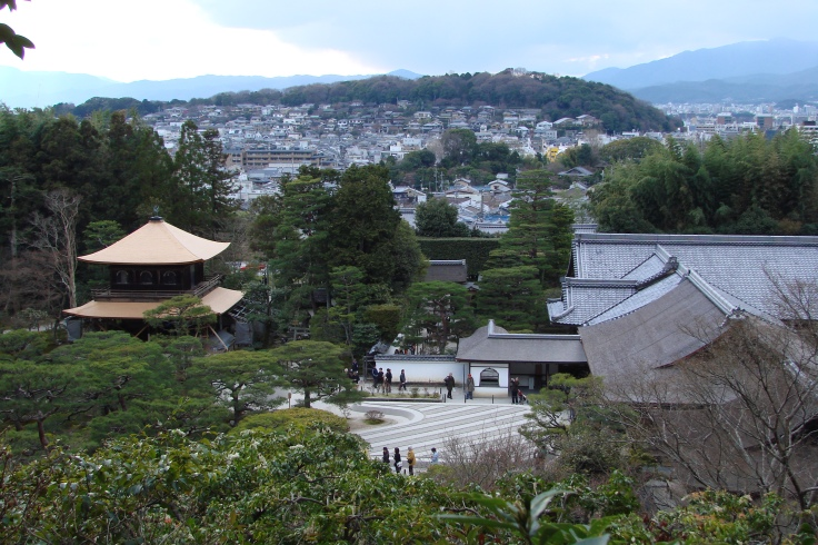 A view of Ginkakuji and the eastern half of Kyoto