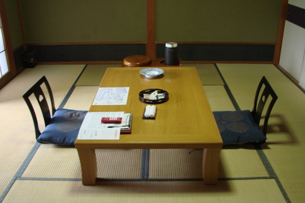 A typical room at a ryokan