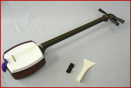 A traditional shamisen