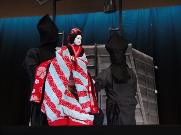 A bunraku performance at Gion Corner