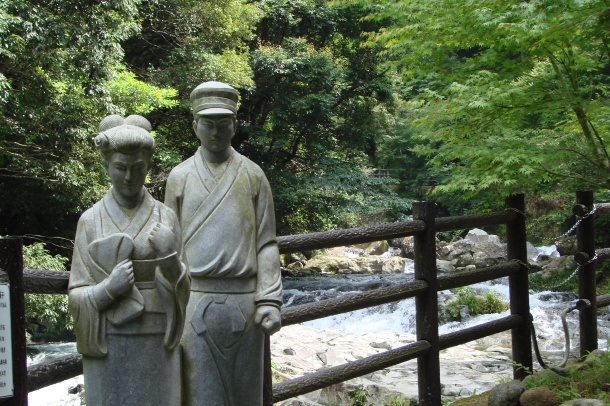 Statues from the novel The Izu Dancer