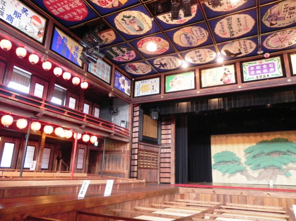The interior of the Yachiyo-za Theater in Yamaga