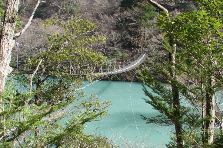 One of the Sumata-kyo Suspension Bridges