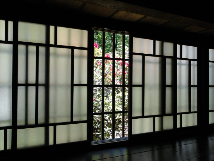 Frosted glass in the former Takahashi residence
