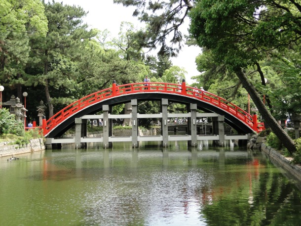 Bridge at Sumiyoshi Shrine