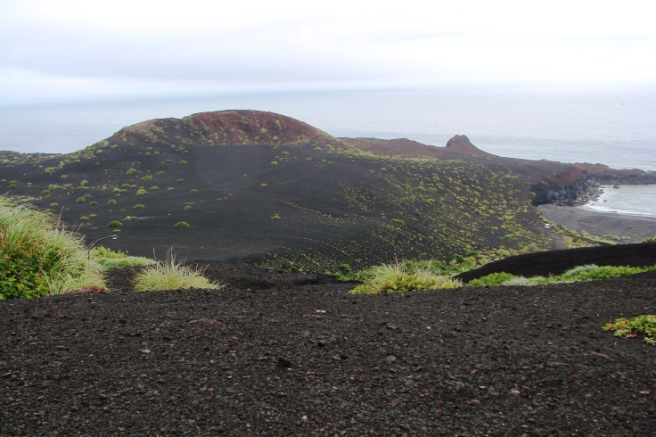 Lava fields on volcanic Miyakejima