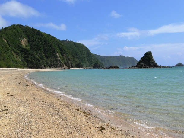 A beach in northern Okinawa