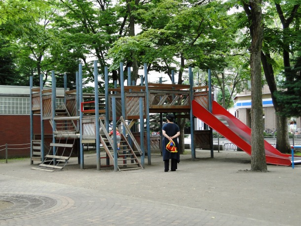 The larger playset