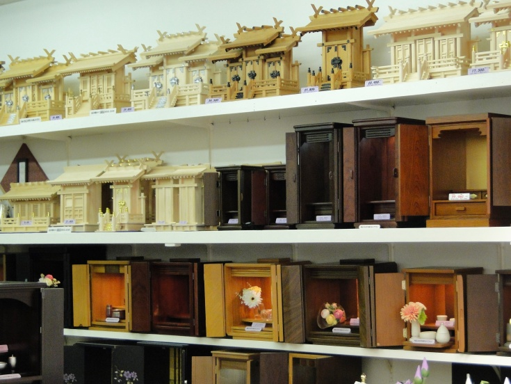 Butsudan (family altars) for sale in Fukuoka
