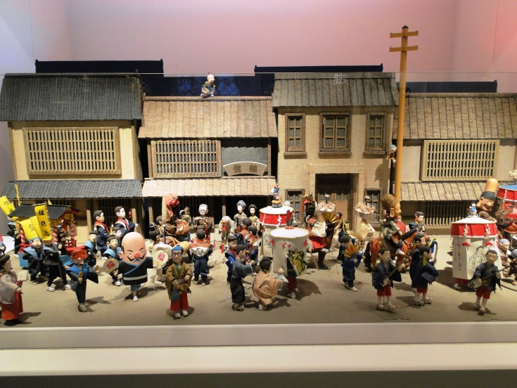 A diorama of Hakata in years past