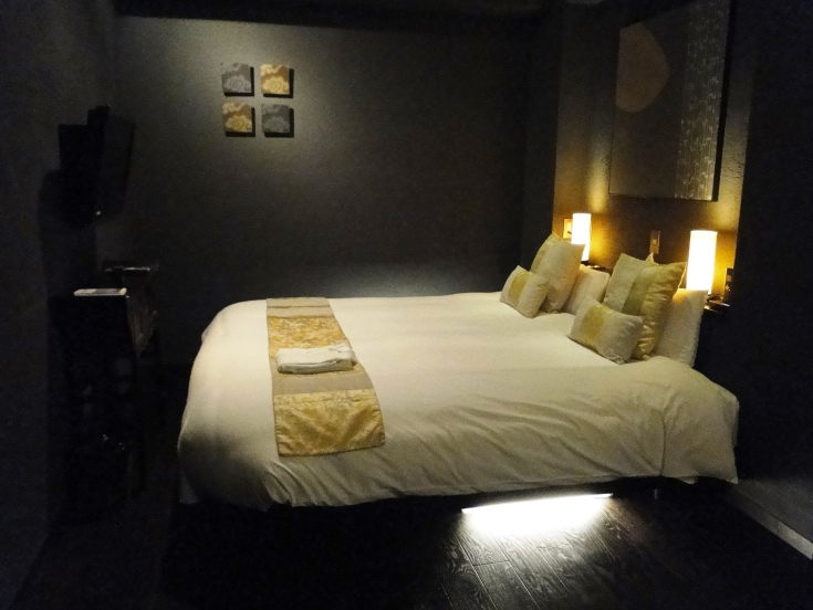 A room at the luxury boutique Hote Mume in Kyoto