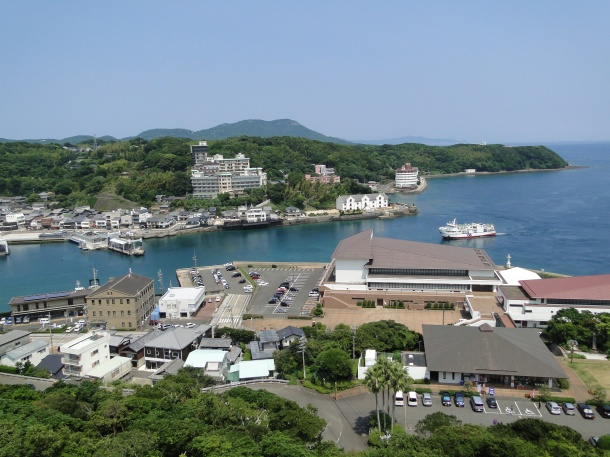 Hirado Harbor as viewed from the town's castle