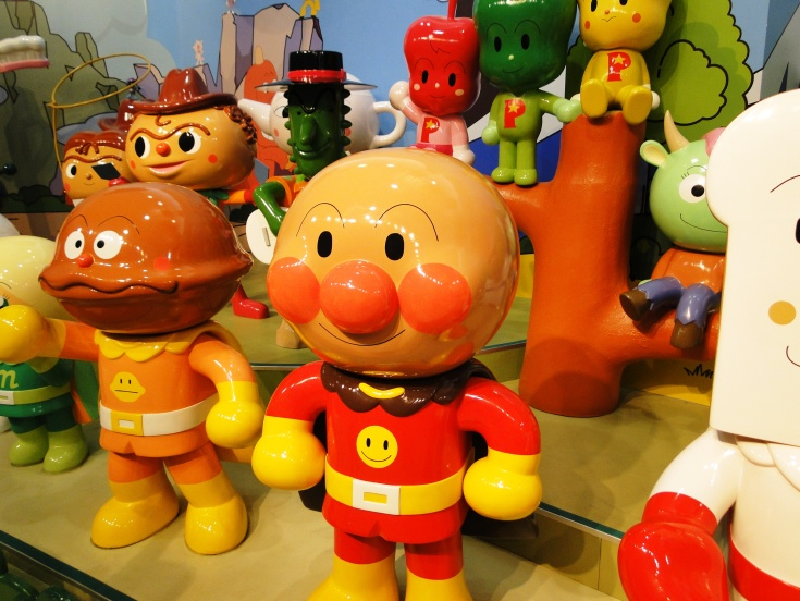 Life-size Anpanman and friends at his namessake museum