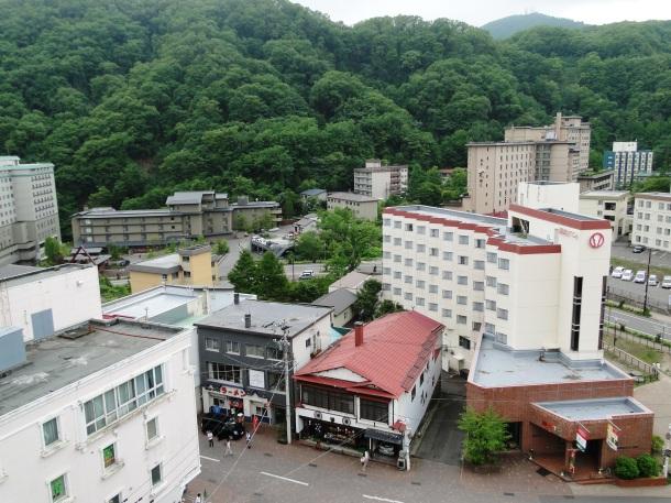 The hot springs resort of Noboribetsu Onsen in Hokkaido