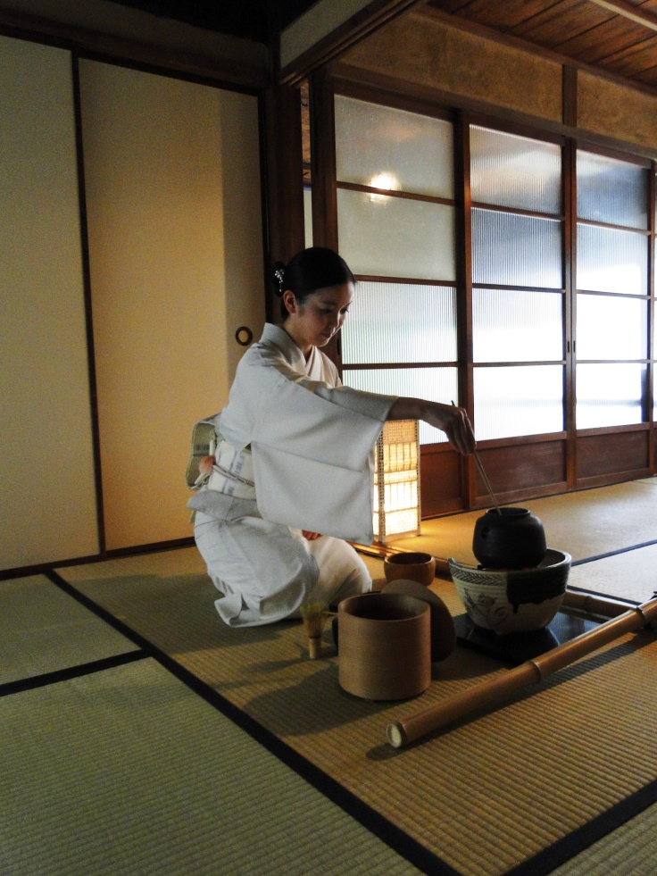 Atsuko-san performs the tea ceremony (sorry the pic is so dark!)