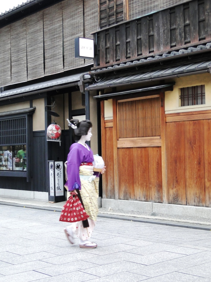 A maiko in Gion