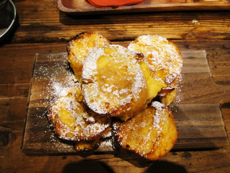 The delicious French toast