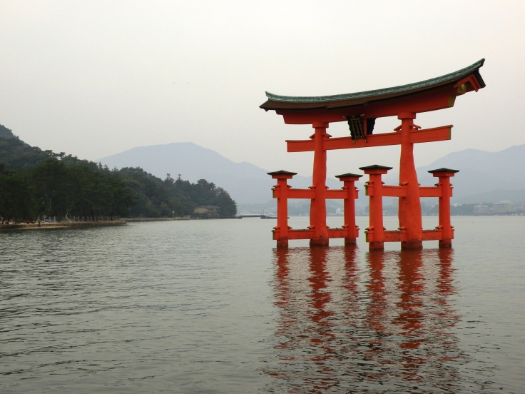 The torii gate at Itsukushima