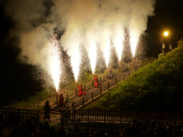 The oni fireworks display