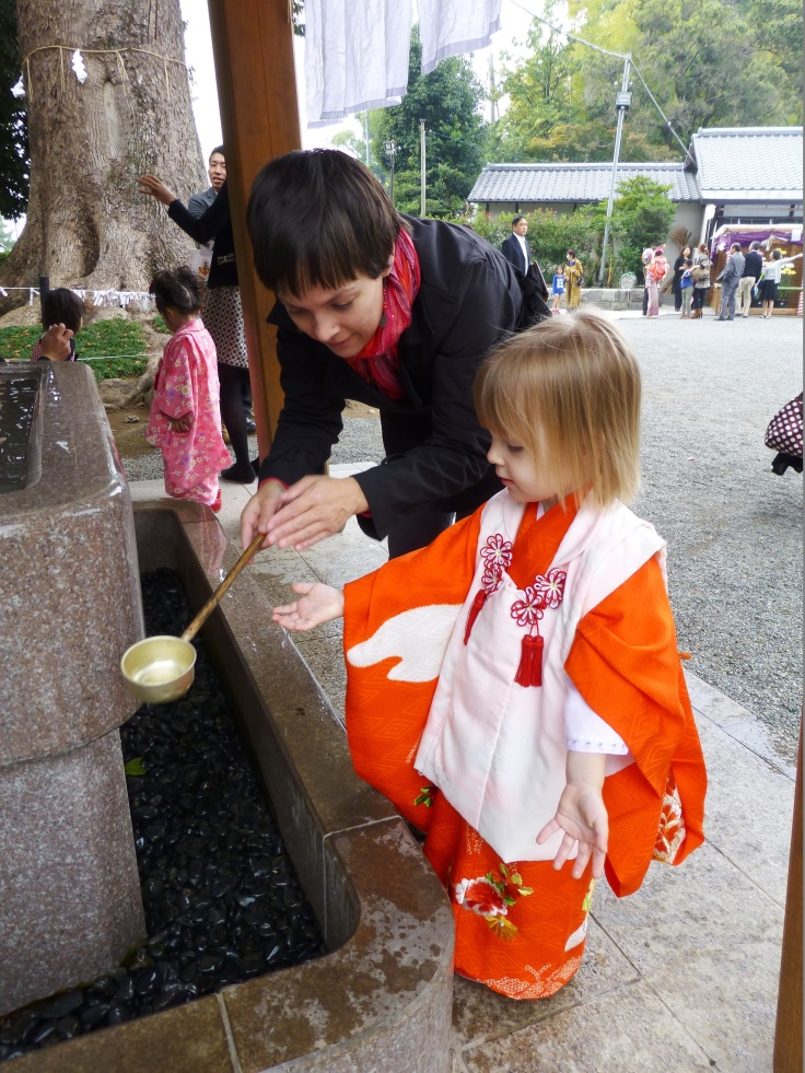 My daughter and I at our Shichi-go-san celebration