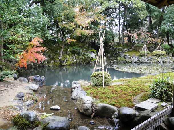 The private garden at the Shigure-tei Tea house