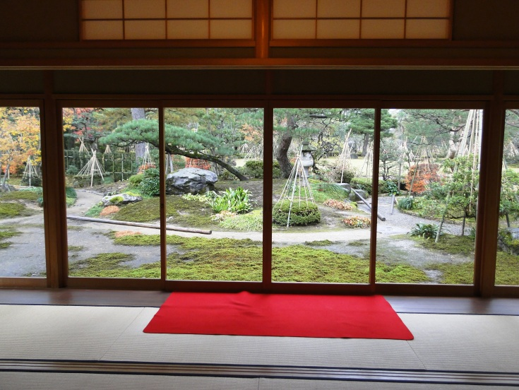 View from the public room of the tea house