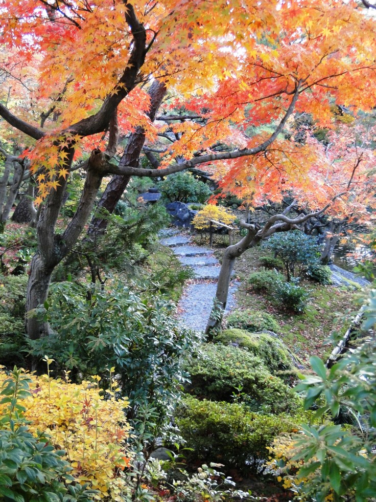 A garden attached to a ryokan, open for anyone to wander in and enjoy