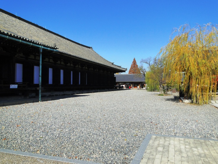 The grounds of the Sanjusangendo Temple