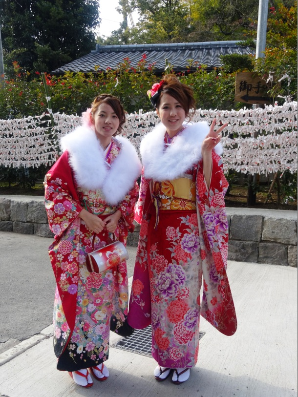 Two girls from our local shrine who kindly posed for me today