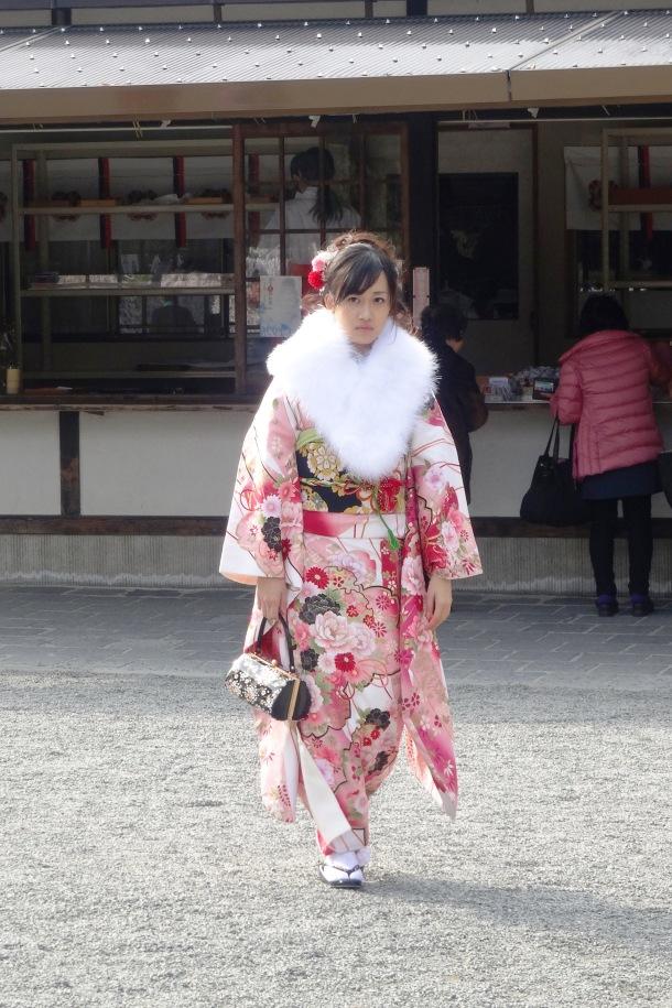 Furisode (long-sleeved kimono for unmarried women)