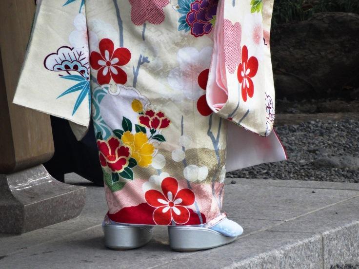 Detailed pattern on a kimono