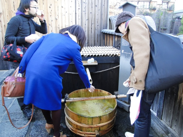 The water source at the Gekkeikan Brewery in Fushimi