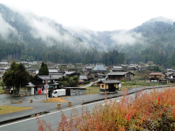 Winter mist lingers over Miyama