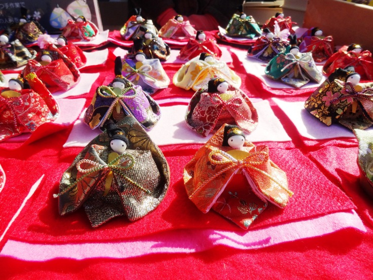 Handmade hina dolls from Yanagawa (we now own the purple and red figures :P)