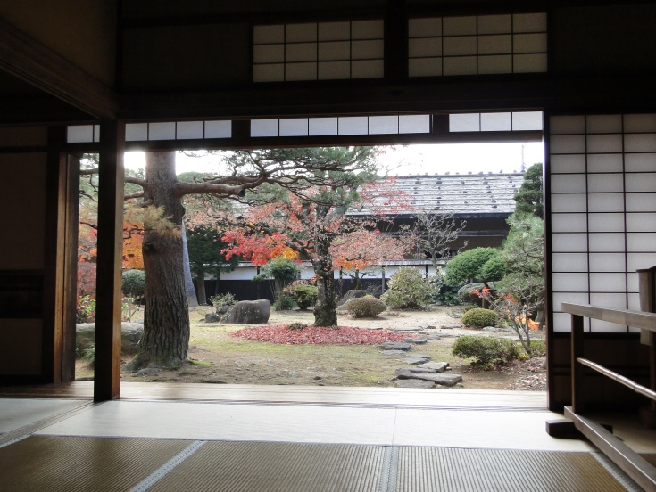 The interior garden of Takayama Jinya
