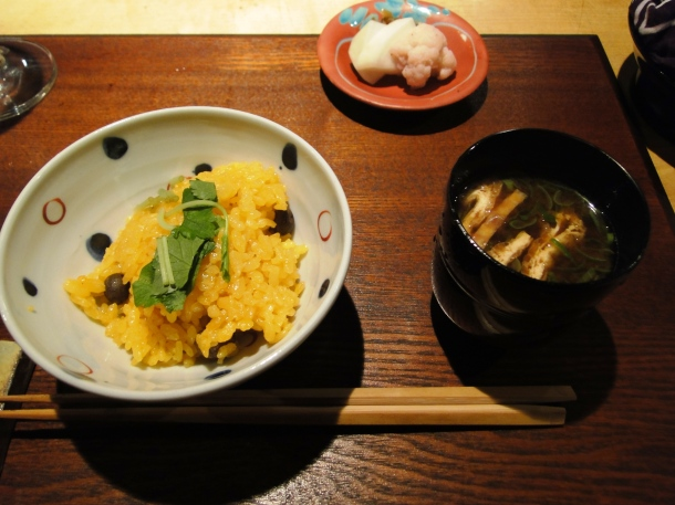 Rice and miso course