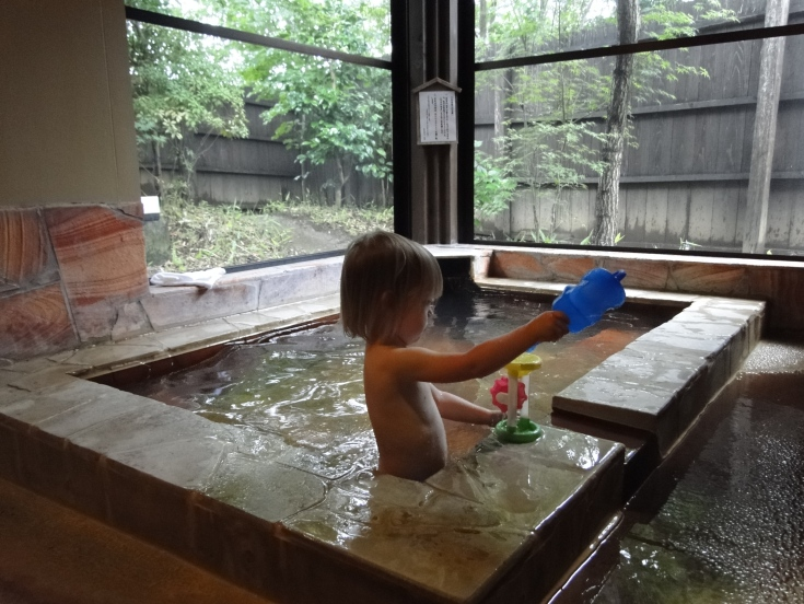 A private bath is perfect for kids