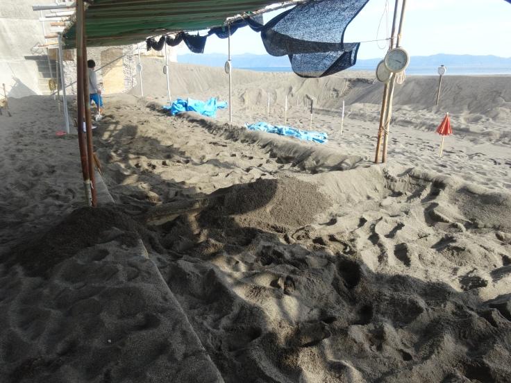 The sand baths