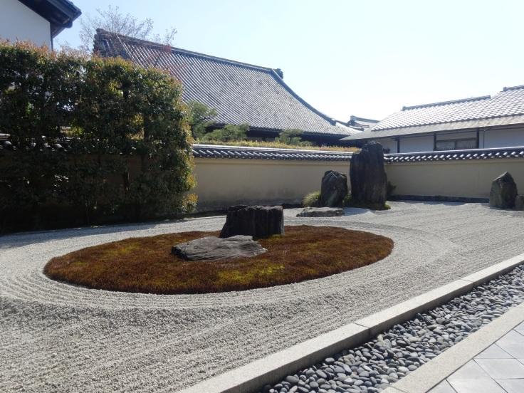 Rock garden at Ryogen-ji