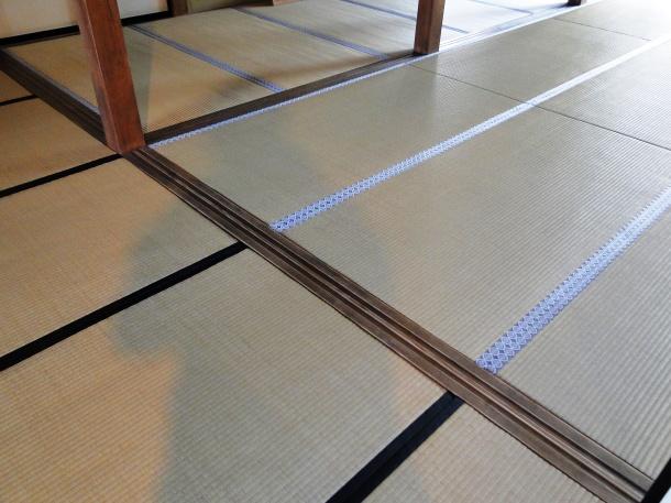 Tatami mats in Takayama Jinya denoting where different ranks sit